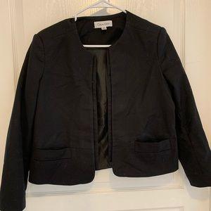 Black open front Calvin Klein blazer